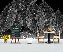 3D-Tapete mit Pflanzenblatt-Textur, modernes