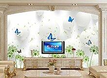 3D-Tapete mit Pusteblumen-Motiv für Wohnzimmer,