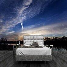 3D-Tapete mit schönem Sonnenuntergang und Wolken