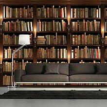 3D Tapete Moderne Bücherregal Vliestapete 3D