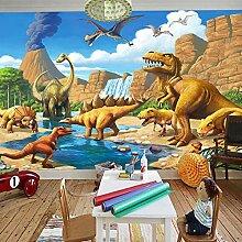 3D Tapete Moderne Dinosaurier Vliestapete 3D