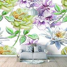 3D Tapete Moderne Frische Blumen Vliestapete 3D