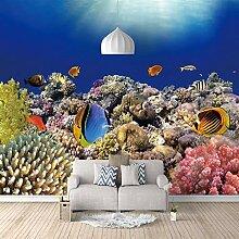 3D Tapete Moderne Meeresfische Vliestapete 3D