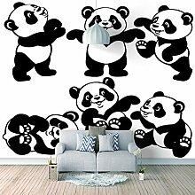 3D Tapete Moderne Panda Vliestapete 3D Wallpaper