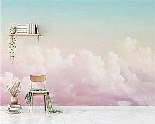 3D Tapete Moderne Rosa Wolken Vliestapete 3D