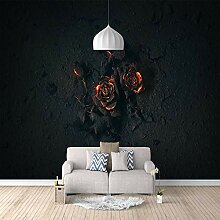 3D Tapete Moderne Rose Vliestapete 3D Wallpaper