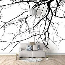 3D Tapete Moderne Toter Baum Vliestapete 3D