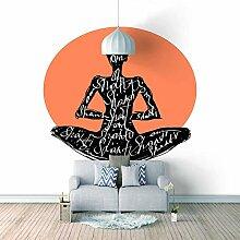 3D Tapete Moderne Yoga Vliestapete 3D Wallpaper