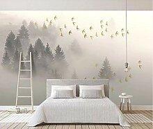 3D-Tapete, modernes und einfaches Nebelgebirge,