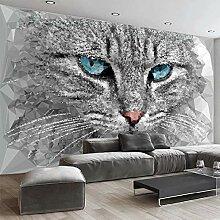 3D Tapete Mosaikkatze Leinwand Wandbild Kunstdruck
