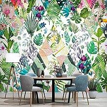 3D Tapete Nordischen Stil Tropische Pflanze Blume