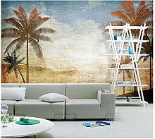 3d Tapete Palmen mit Meerblick und blauem Himmel