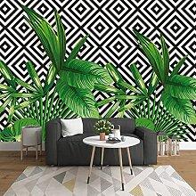 3D Tapete Pflanze grünes Blatt Wandbild modernes