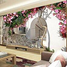 3D-Tapete, Rose, Schlafzimmer-/Wohnzimmer-Tapete,
