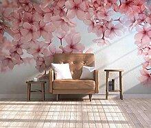 3D Tapete Schöne Rosa Blume Der Kirschblüte
