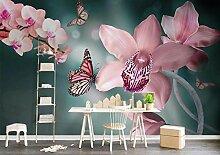 3D Tapete Schöne Schmetterlingsblumen Fototapete