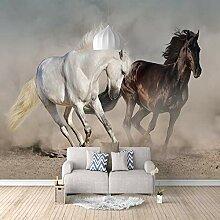 3D Tapete Schwarzweiss-Pferd 3D Wandbilder Für