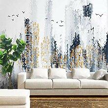 3D Tapete Stadtreflexion Leinwand Wandbild
