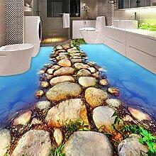 3D Tapete Steinweg 3D Bodenmalereier Vlies Tapete