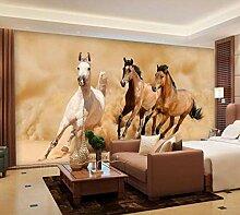 3D Tapete Stoff Fresko 3d Fototapete Pferd
