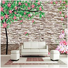 3D Tapete Tapete Custom Brick Wall Tapete Green