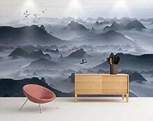 3D Tapete Tinte Und Wash Mountain Zen Landschaft