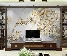 3D Tapete Vlies Abstrakte Goldene Linien Des