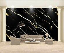 3D Tapete Vlies Abstrakte Goldene Linien Marmor