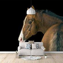 3D Tapete Vlies Dunkles Pferd 3D Wandbilder Für