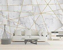 3D Tapete Vlies Geometrische Goldene Linien