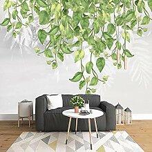 3D Tapete Vlies Grüne Blätter 3D Wandbilder Für