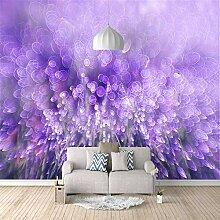 3D Tapete Vlies Lila Lavendel 3D Wandbilder Für