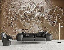 3D Tapete Vlies Relief Zementwand Schönheit Retro