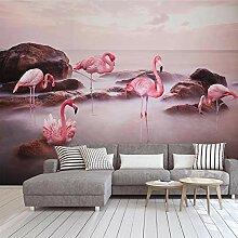 3D Tapete Vlies Rosa Flamingo 3D Wandbilder Für