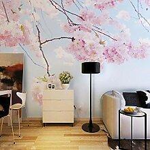 3D Tapete Vlies Rosa Kirschblüte 3D Wandbilder