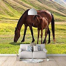 3D Tapete Vlies Wiesenbraunes Pferd 3D Wandbilder