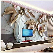 3D Tapete Wandbild 3D Phalaenopsis Relief Tapete