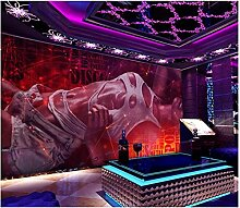 3D Tapete Wandbild Blendende Purpurrote Sexy
