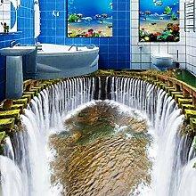 3D-Tapete/Wandbild für Badezimmer, 3D-Bodenbild,