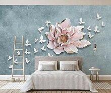 3D Tapete Wandbild Geprägte Blumen