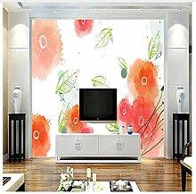 3D Tapete Wandbild Mädchen Zimmer Dekor Floral