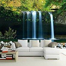 3D-Tapete/Wandbild mit Wasserfall, für