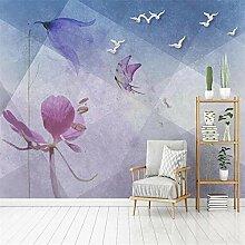 3D Tapete Wandbild Moderne Geometrische Blume
