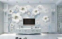 3D Tapete Wandbild Perlenblumenwasserschmuck Vlies