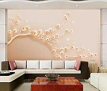3D Tapete Wandbild Reliefkunstblumenchampagner