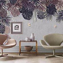 3D Tapete Wandbild Tropische Pflanze Blätter