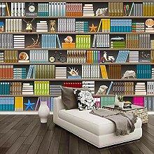 3D tapete Wandbilder Stereo Bücherregal