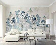 3D-Tapete/Wandtapete für Wohnzimmer, 3D-Blumen,