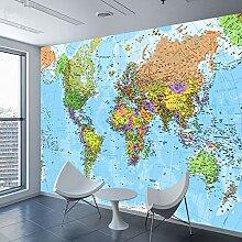 3D Tapete Weltkarte Fototapete Für Wohnzimmer