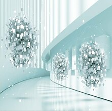 3D - Tapete Wohnzimmer Mit Sofa Minimalistisch Tapeten Film Und Fernsehen Hintergrund Tapete Tapeten Abstrakte Geometrie Tapete Leinwand Wallpaper